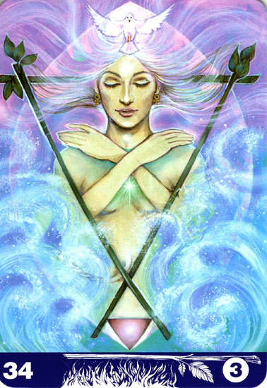 34 Three of Wands