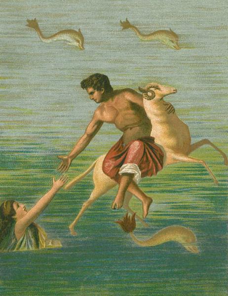 プリクソスとヘレー 金の羊