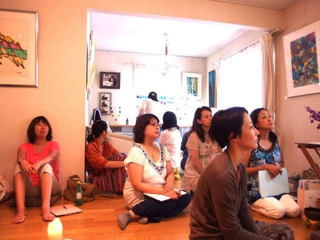 $オーラソーマ 総合情報サイト ブログ-石黒寛子さんのカラーダイアリーお茶会1
