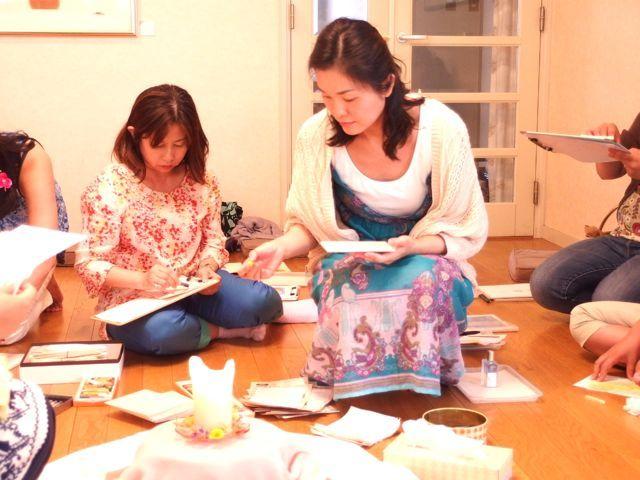 $オーラソーマ 総合情報サイト ブログ-石黒寛子さんのカラーダイアリーお茶会6