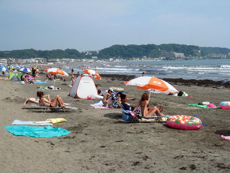 $オーラソーマ総合情報サイト・ブログ-夏の由比ヶ浜海岸・5