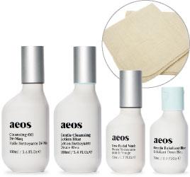 ASET03BN エイオス N 洗顔セット(ブルー) 洗顔セット 朝晩の洗顔にお使いいただけるプロダクトをセットにしました<オーラソーマ・エイオス スキンケア>