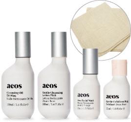 ASET03PN エイオス N 洗顔セット(ピンク) 洗顔セット 朝晩の洗顔にお使いいただけるプロダクトをセットにしました<オーラソーマ・エイオス スキンケア>